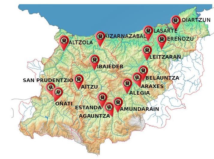 Mapa Gipuzkoa;